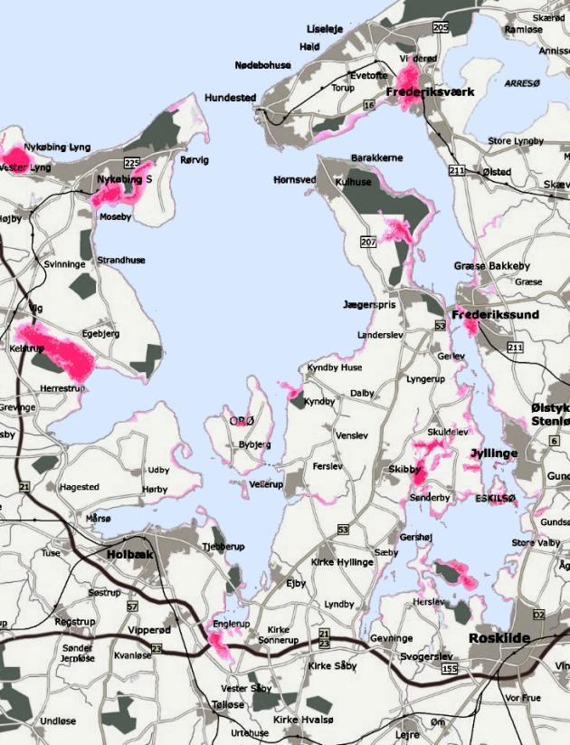 Kort Over Ny Sti I Gulddysseskoven Samt Forslag Til Ny Cykelsti